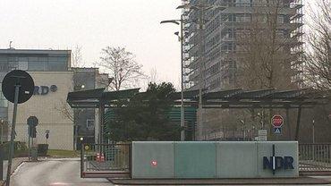 Einfahrt NDR Lokstedt in Hamburg